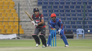 Shaiman Anwar flicks through the leg side during his second fifty of the tournament, UAE v Afghanistan, Desert T20, Group A, Abu Dhabi, January 16, 2017