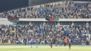 The Afghanistan fans go wild after the winning run by Najibullah Zadran, UAE v Afghanistan, Desert T20, Group A, Abu Dhabi, January 16, 2017
