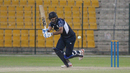 Safyaan Sharif boosted Scotland late with a quick 20 not out, Netherlands v Scotland, Desert T20, Group B, Abu Dhabi, January 17, 2017