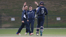 Con de Lange removed Michael Rippon to give Scotland hope, Netherlands v Scotland, Desert T20, Group B, Abu Dhabi, January 17, 2017