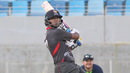 Amjad Javed gets off the mark pulling a six over midwicket, UAE v Ireland, Desert T20, Group A, Dubai, January 18, 2017