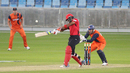 Nizakat Khan slashes another boundary over backward point to bring up a half-century, Hong Kong v Netherlands, Desert T20, Group B, Dubai, January 18, 2017