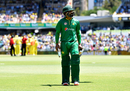 Mohammad Hafeez walks back after being dismissed, Australia v Pakistan, 3rd ODI, Perth, January 19, 2017