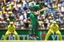 Sharjeel Khan gets onto his toes to whip off his hip, Australia v Pakistan, 3rd ODI, Perth, January 19, 2017