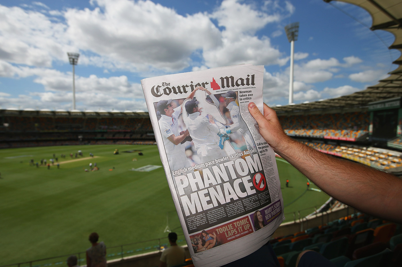 Embedded reportage: remember when the <i>Courier-Mail</i> forgot Stuart Broad's name?