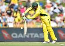 Usman Khawaja plays away from his body, Australia v Pakistan, 3rd ODI, Perth, January 19, 2017