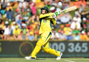 Peter Handscomb frees his arms and pulls a free hit high into the leg side, Australia v Pakistan, 3rd ODI, Perth, January 19, 2017
