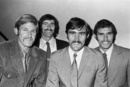 Members of the Australian team on the 1972 tour of England: from left, Ross Edwards, Dennis Lillee, Paul Sheahan and Greg Chappell