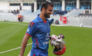 Nawroz Mangal grins after walking off for 32, Afghanistan v Namibia, Desert T20, Group A, Dubai, January 19, 2017