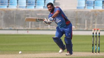 Mohammad Shahzad flicks through the on side