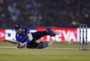 Alex Hales was on all fours after attempting a shot, India v England, 2nd ODI, Cuttack, January 19, 2017