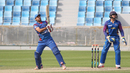 Asghar Stanikzai clobbers a Colin Peake full toss for six, Afghanistan v Namibia, Desert T20, Group A, Dubai, January 19, 2017