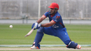 Samiullah Shenwari goes for a reverse sweep, Afghanistan v Namibia, Desert T20, Group A, Dubai, January 19, 2017