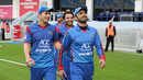 Nawroz Mangal leads the Afghanistan side to the crowd to wave back their appreciation, Afghanistan v Namibia, Desert T20, Group A, Dubai, January 19, 2017