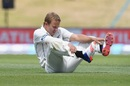 Neil Wagner checks his boots, New Zealand v Bangladesh, 1st Test, Christchurch, 1st day, January 20, 2017