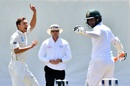 Trent Boult bellows out an appeal, New Zealand v Bangladesh, 1st Test, Christchurch, 1st day, January 20, 2017