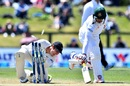 BJ Watling attempts to run Nurul Hasan out, New Zealand v Bangladesh, 1st Test, Christchurch, 1st day, January 20, 2017