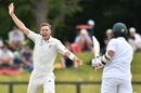Tim Southee makes a polite enquiry, New Zealand v Bangladesh, 1st Test, Christchurch, 1st day, January 20, 2017