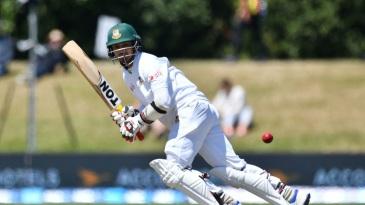 Nurul Hasan flicks the ball through square leg