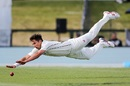 Trent Boult flings himself at the ball, New Zealand v Bangladesh, 1st Test, Christchurch, 1st day, January 20, 2017