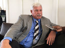 Richard Hadlee talks to journalists at Hagley Oval, January 20, 2017
