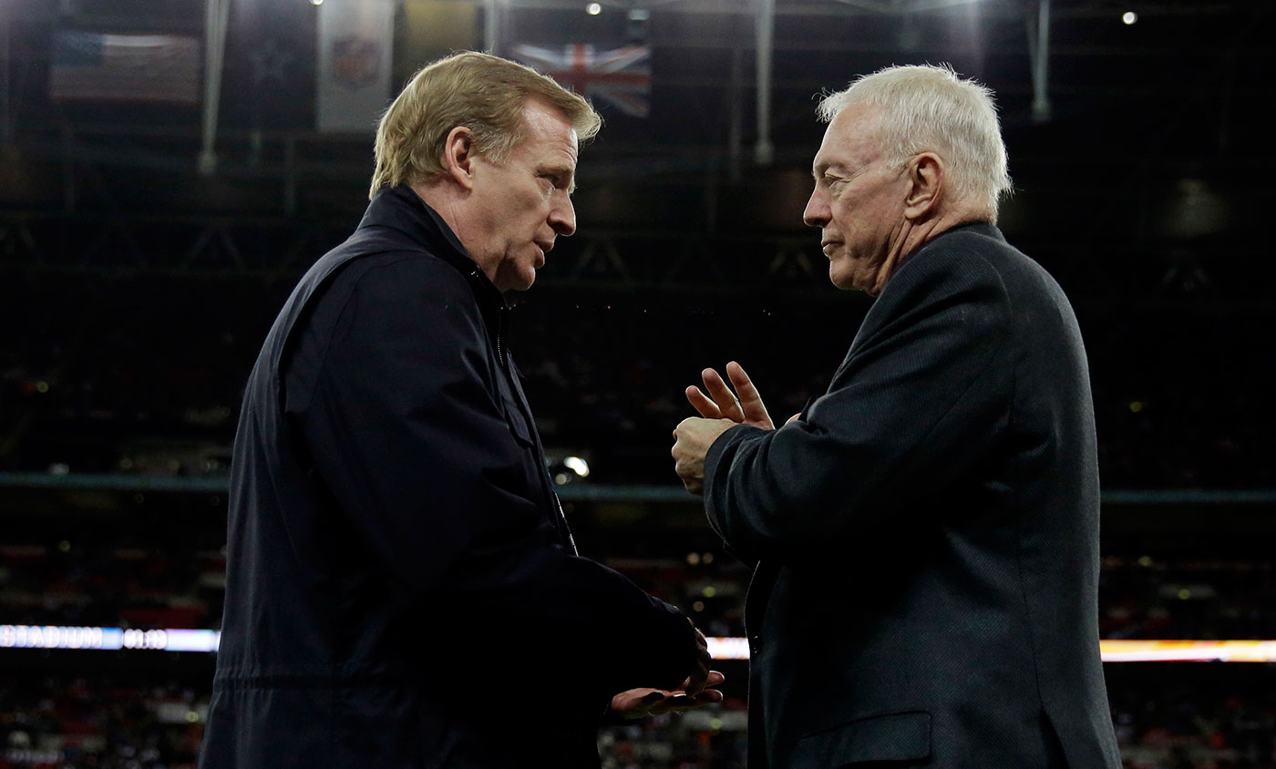 Cricket needs Roger Goodell (left) because we don't have enough controversial administrators