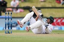 Kamrul Islam Rabbi was floored by a bouncer, New Zealand v Bangladesh, 1st Test, Christchurch, 1st day, January 20, 2017