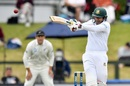 Soumya Sarkar goes through with a pull shot, New Zealand v Bangladesh, 1st Test, Christchurch, 1st day, January 20, 2017