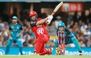 Aaron Finch unleashes a powerful slog-sweep, Brisbane Heat v Melbourne Renegades, BBL 2016-17, Brisbane, January 20, 2017