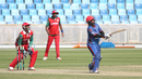Mohammad Shahzad hits his third six over long-on, Afghanistan v Oman, Desert T20, 1st semi-final, Dubai, January 20, 2017