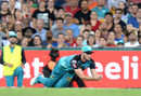 Mark Steketee complete a catch inches from the ground, Brisbane Heat v Melbourne Renegades, BBL 2016-17, Brisbane, January 20, 2017