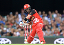 Callum Ferguson shapes to hit over the off side, Brisbane Heat v Melbourne Renegades, BBL 2016-17, Brisbane, January 20, 2017