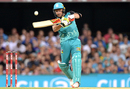 Brendon McCullum powers one over mid-off, Brisbane Heat v Melbourne Renegades, BBL 2016-17, Brisbane, January 20, 2017