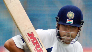 Sachin Tendulkar watchfully lets one go in the nets