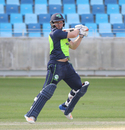 Gary Wilson gets on his toes to cut his first boundary over backward point, Ireland v Scotland, Desert T20, 2nd semi-final, Dubai, January 20, 2017