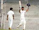 Chirag Gandhi celebrates his maiden first-class ton, Rest of India v Gujarat, Irani Cup 2017, Mumbai, 1st day, January 20, 2017