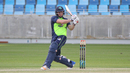Gary Wilson pulls for his eighth four over midwicket in the final over, Ireland v Scotland, Desert T20, 2nd semi-final, Dubai, January 20, 2017