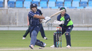 Kyle Coetzer pulls over the leg side during his 40, Ireland v Scotland, Desert T20, 2nd semi-final, Dubai, January 20, 2017