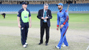 Nawroz Mangal spins the coin toss in his final match for Afghanistan, Afghanistan v Ireland, Desert T20, Final, Dubai, January 20, 2017