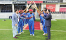 Nawroz Mangal gets a guard of honour from his team, Afghanistan v Ireland, Desert T20, Final, Dubai, January 20, 2017