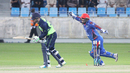 Mohammad Shahzad screams in delight as Andy McBrine is dismissed for a duck, Afghanistan v Ireland, Desert T20, Final, Dubai, January 20, 2017