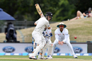 Tom Latham shapes to cut, New Zealand v Bangladesh, 2nd Test, Christchurch, 2nd day, January 21, 2017