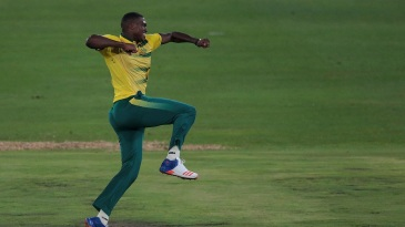 Lungi Ngidi picked up two wickets in two overs on T20I debut
