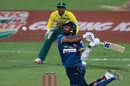 Dinesh Chandimal is beaten while trying an extravagant shot, South Africa v Sri Lanka, 1st T20I, Centurion, January 20, 2017