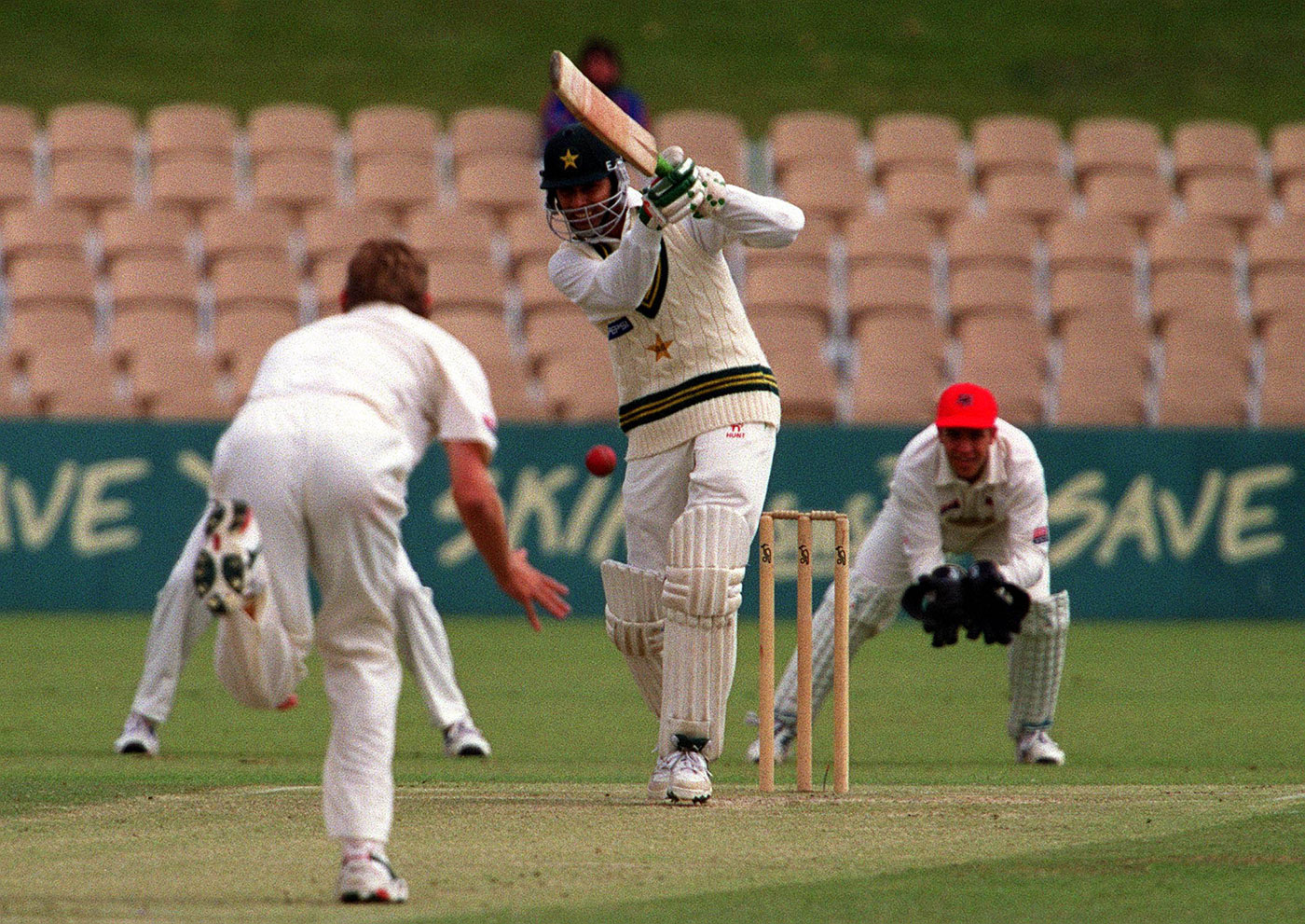 In two Tests in Australia in 1999-2000, Wasim made 129 runs at 32.25