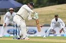 Henry Nicholls drives the ball, New Zealand v Bangladesh, 2nd Test, Christchurch, 2nd day, January 21, 2017