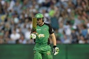 Luke Wright acknowledges his second successive fifty, Melbourne Stars v Sydney Sixers, BBL 2016-17, Melbourne, January 21, 2017