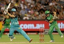 Sam Heazlett backs away to cut one, Melbourne Stars v Brisbane Heat, Big Bash League 2016-17, Melbourne, January 17, 2017