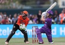 D'Arcy Short launches one into the leg side, Hobart Hurricanes v Perth Scorchers, Women's Big Bash League 2016-17, Hobart, January 21, 2017