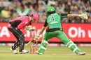Evan Gulbis is stumped by Brad Haddin, Melbourne Stars v Sydney Sixers, BBL 2016-17, Melbourne, January 21, 2017